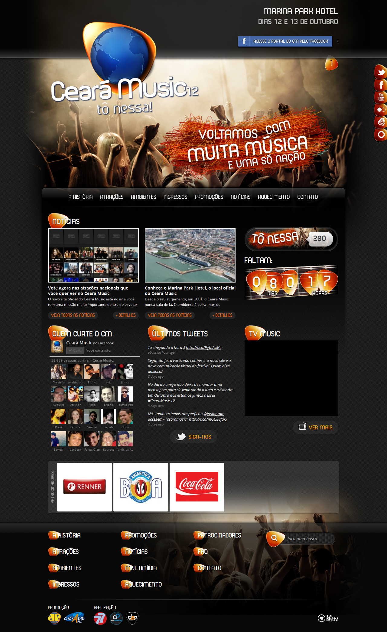 Bleez lança site do Ceará Music 2012