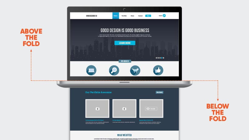 above the fold layout de sites bleez ecommerce