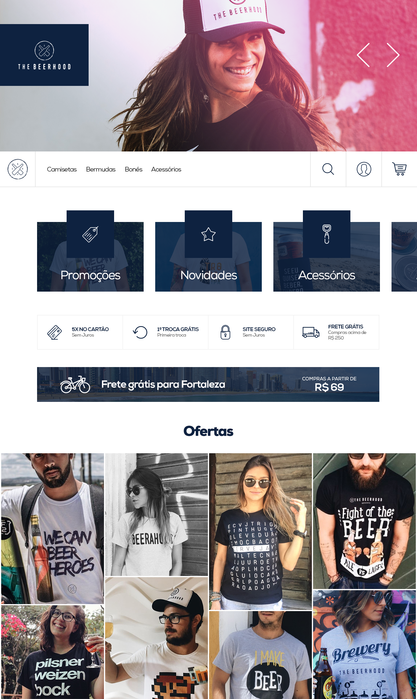 layout pagina inicial bleez ecommerce