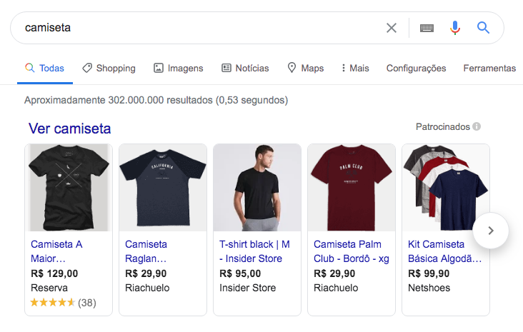 produtos do google shopping - bleez ecommerce